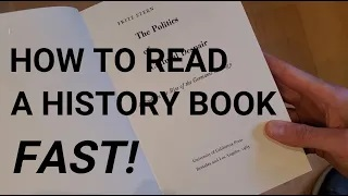 How To Read A History Book Fast